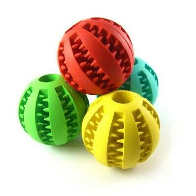 Dog Chew Ball Pet Puppy Teething Treat Bite Food Dispenser Interactive Toy AU