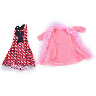 "Fashion Beautiful Handmade Party Clothes Dress for 9""  Doll FZ"