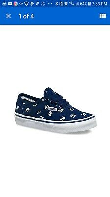 698f9641650b Vans Kids (MLB) New York Yankees Navy Sneakers Shoes