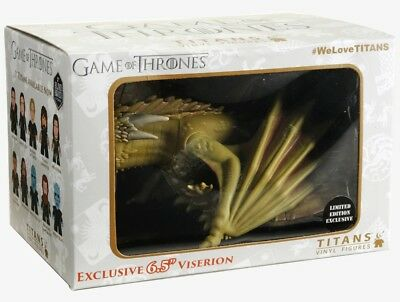 """Titans Game of Thrones 2018 Limited Ed Hot Topic 6.5"""" Rhaegal Dragon GOT Figure"""