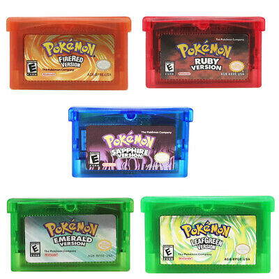 5Pcs Fan Advance Gameboy Cartridge Game Card For Pokemon NDSL/GBC/GBM/GBA/SP