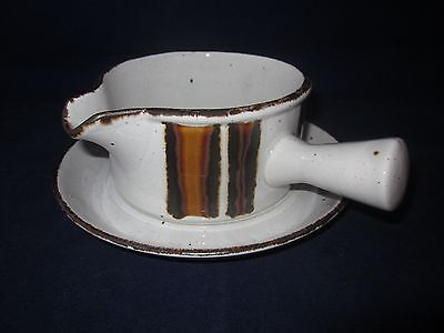 WEDGWOOD MIDWINTER Stonehenge Earth Gravy Boat & Underplate ~ EXCELLENT