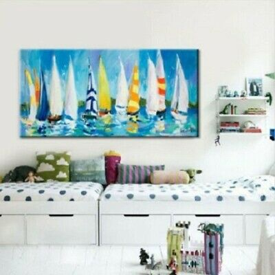 Large Modern hand-painted Art Oil Painting Wall Decor canvas,Sailing(No framed)
