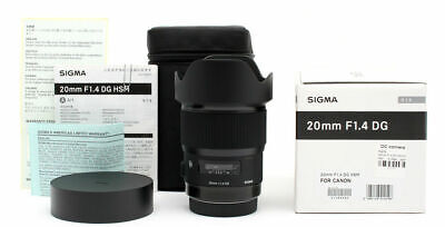 Sigma 20mm f/1.4 DG HSM Art Lens for Canon EF PX