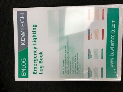 Kewtech EMLOG Emergency Lighting Log Book