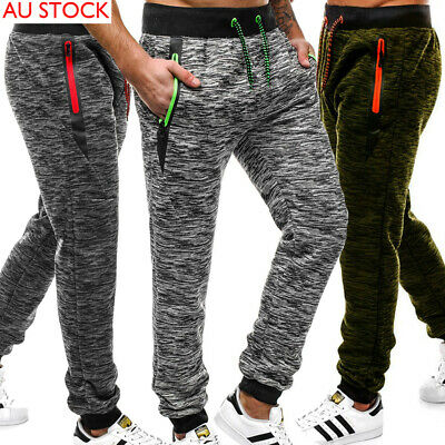 AU Men Casual Jogger Sports Gym Bodybuilding Running Track Trousers Sweatpants