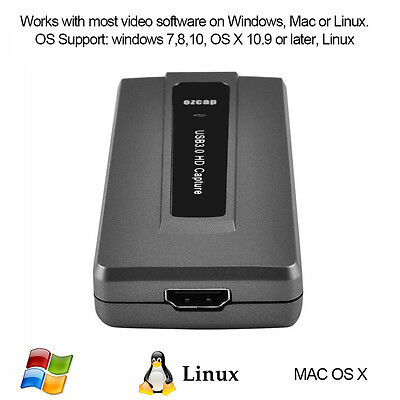 USB 3.0 to HDMI HD Video Capture Card 1080P 60FPS Recorder For Windows Mac Linux