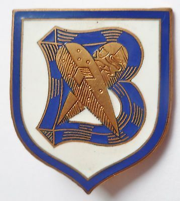 Insigne de Marine Torpilleur BOUCLIER 1939/40 WWII ORIGINAL FRENCH NAVY BADGE