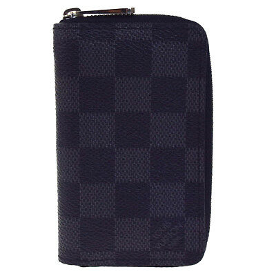 1bfff429a734 Auth LOUIS VUITTON Zippy Coin Purse Wallet Damier Graphite Gray N63076  62EC298