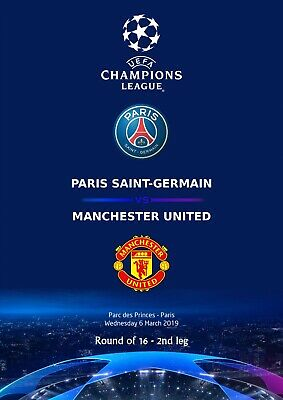 Programme Pirate Psg Manchester United Cl Uefa Champions League 2018 2019