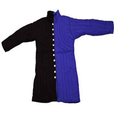 Beautiful Medieval Gambeson Full Sleeves in Blue Renaissance/ Cotton Best Item
