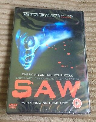 Saw DVD (2005) NEW SEALED Danny Glover Cary Elwes Leigh Whannell Region 2