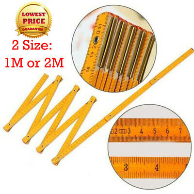 Double Side Wooden Ruler Wood Carpenter Inch Scales /& Metric Scales Tools VGCTC