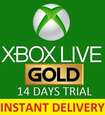 Xbox Live Gold 14 Day Trial Membership Code, 2 weeks 14 Days - Instant Dispatch