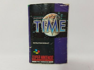 Illusion of Time Super Nintendo SNES Replacement Instructions Manual Only (2)
