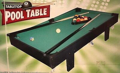 3' foot 92cm 36inches Table Top Pool Table Childrens Kids Or Adults Game NEW
