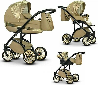 New Pram Mirage Buggy 3in1 Car Seat Carrycot Travel System Pushchair Base Isofix