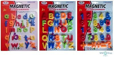 Magnetic Toy Alphabet Letters & Numbers Fridge Magnets Kids Learning Teaching