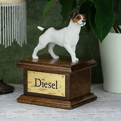 Solid Wood Mahogany Dog, Cremation Urn / Casket, Jack Russell