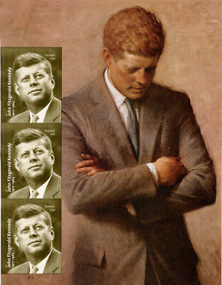 US Scott#5175 John Fitzgerald Kennedy Side Selvage with 3 Stamps  MNH*FREE SHIP*