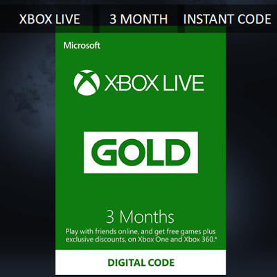 Xbox Live Gold Membership 3 Month Subscription - Quick Delivery