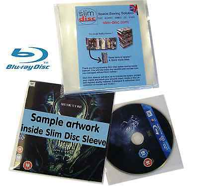 Slimdisc Bluray & Games Media Space Saving Cover Sleeve Storage System 200 Pack