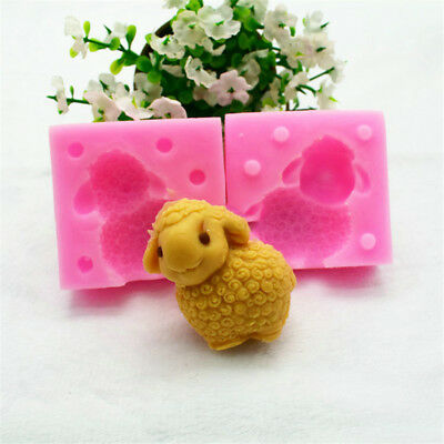 Silicone 3D Lamb Shape Mold Handmade Craft Soap Candle Making DIY Mould LH