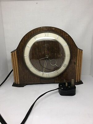 Vintage Smiths Sectric Mantle Clock GWO Liverpool City Police 1955 T Division