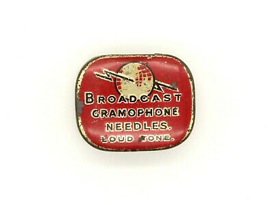 GRAMOPHONE NEEDLE TIN - Broadcast Gramophone Needles - Loud Tone [NEEDLE TIN]