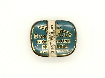 GRAMOPHONE NEEDLE TIN - Broadcast Gramophone Needles - Medium Tone [NEEDLE TIN]