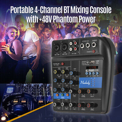 Muslady S-1 Mixer portatile a 4 canali BT Mixer audio Mixer audio integrato U6S6