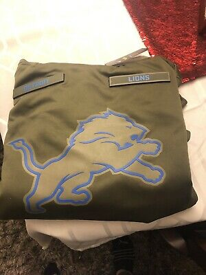 f35b574fe Nike DETROIT LIONS 2018 Mens NFL Salute to Service Therma STS Hoodie Hoody  New M