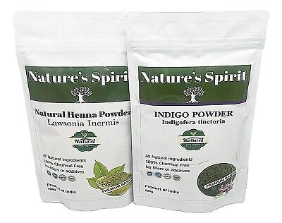 Indigo Powder & Henna for Natural Black  Hair Dye 100% Pure (2 x 100g per sale)