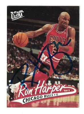 c038d2d8 RON HARPER CHICAGO Bulls Lakers Clippers Cavs Autographed Signed Nba ...