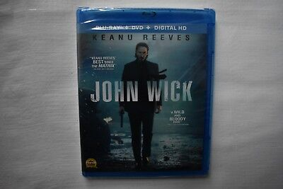 John Wick 2014 Keanu Reeves Action Revenge NEW Digital HD + DVD + Blu Ray