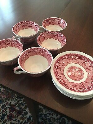 Mason's England Transferware Cups And Saucers