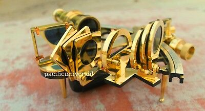 Maritime Collectible Solid Brass Nautical Sextant Ship Working Instrument Item