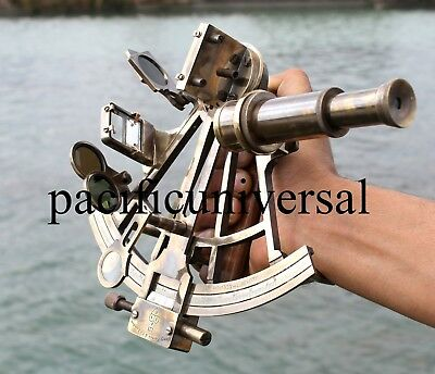 """Nautical Sextant Vintage Astrolabe ship Navigation sextant Working Brass Gift 8"""""""