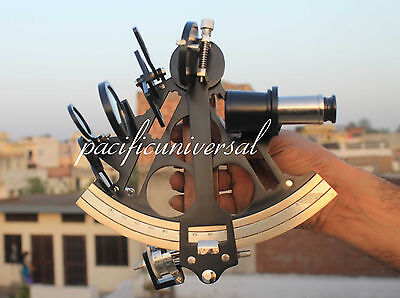 """Solid Brass Sextant Nautical Maritime Astrolabe Marine Gift Ships Instrument 8""""."""