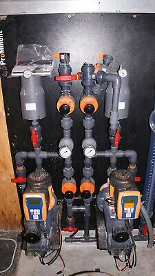 Prominent Pump Skid Sigma 3 Metering Pumps Chemical Feed System