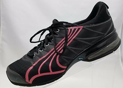 90f1dfc258f7ce Puma 10 Cell Eco Ortholite Running Womens Black Pink Athletic Shoes Size 10