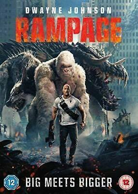 Rampage Dwayne Johnson Naomie Harris Jeffrey Dean Morgan Uk 2018 Dvd & Uv L New