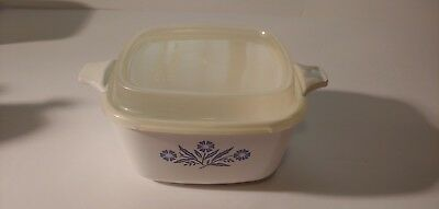 Corning Ware P-43-B 2OZ Petite Pan-Sq. Baking Dish-Cornflower Blue W/Lid #6