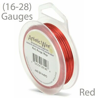 Red Tarnish-Resistant Artistic Craft Wire - Red Wire (16-28 GA)