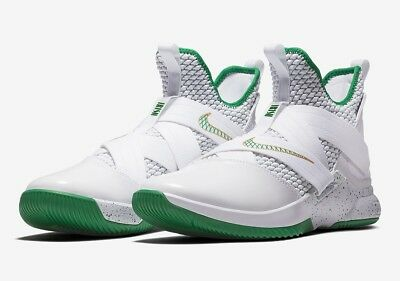 reputable site 52b3c 069fb Nike Lebron Soldier XII 12 SVSM Home White Green Gold AO2609-100 SIZE 10.5  US