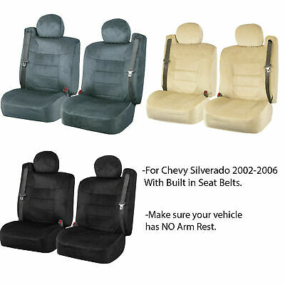 for 2008-2015 CHEVY SILVERADO 2 Durable Scottsdale Velour Fabric Seat Covers