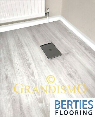 LVT Click Vinyl White Flooring - Rigid Click System - Embossed Water Resistance