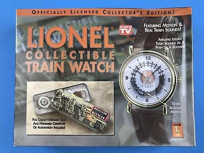 """Lionel Collectible Train Watch w/Train Sounds In Decorative Tin Case """"Sealed"""