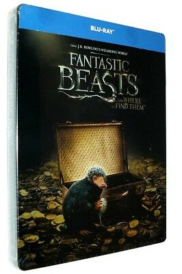 Fantastic Beasts And Where To Find Them Steelbook (Blu-Ray) New Sealed