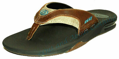 234b3167e284 Reef Mens  Fanning TX  Bottle Opener Flip Flops - Dark Brown   Gum